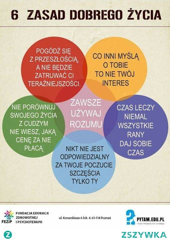 6 zasad dobrego życia