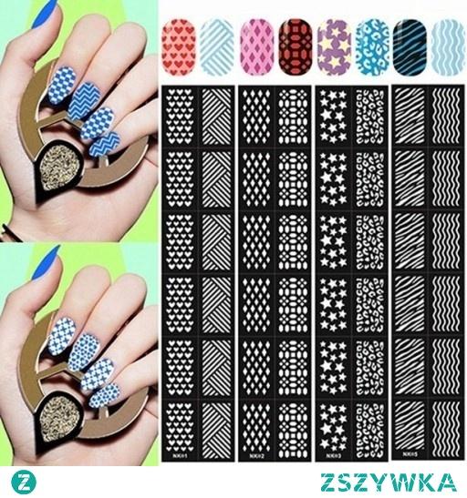 wzorniki na paznokcie różne wzory