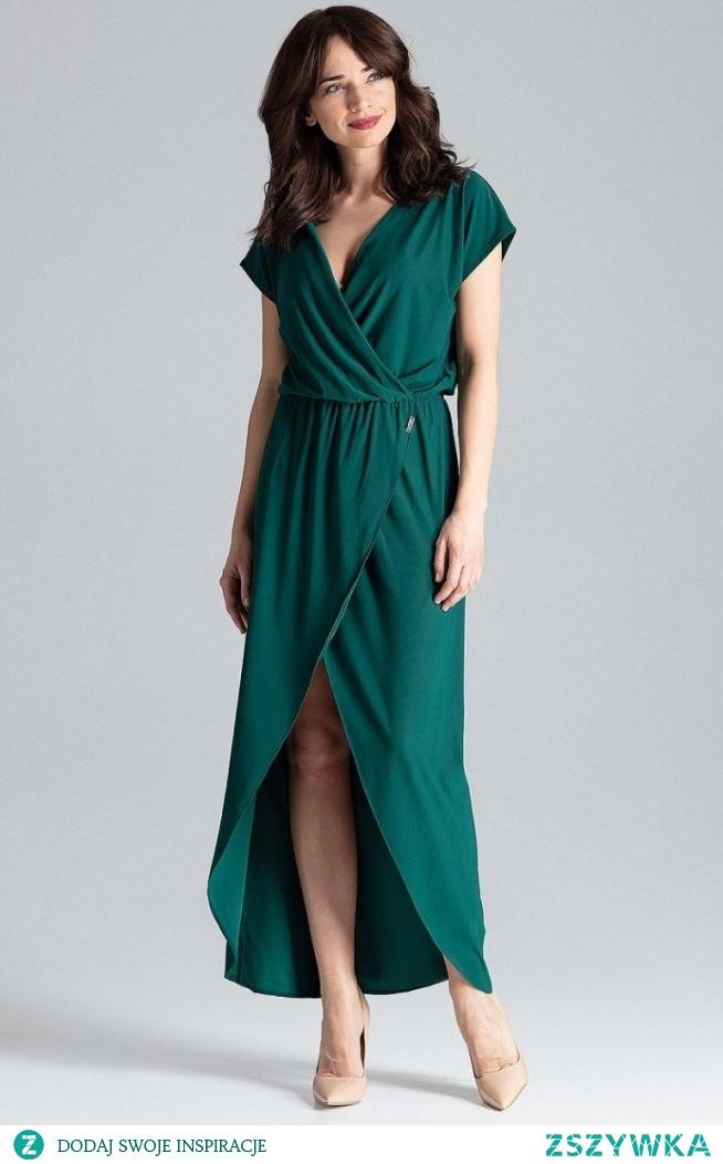 Lenitif długa sukienka zielona L033