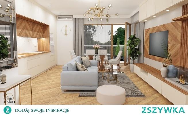 Projekt aranżacji mieszkania. Więcej na facebooku-czajkadesign