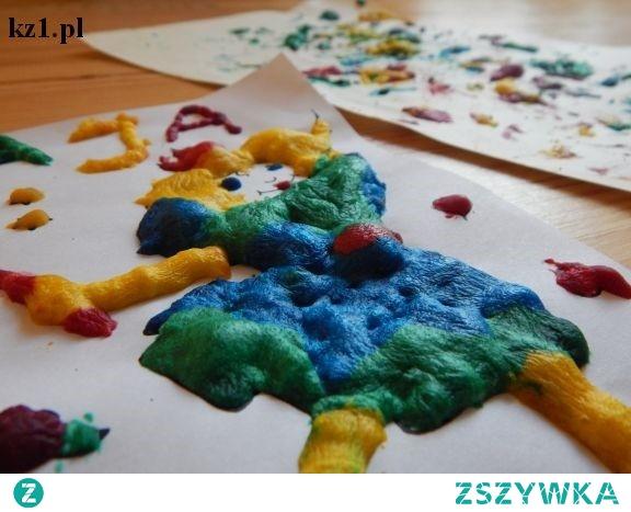 Rosnące kolorowe farby - przepis na kreatywną zabawę dla dziecka.