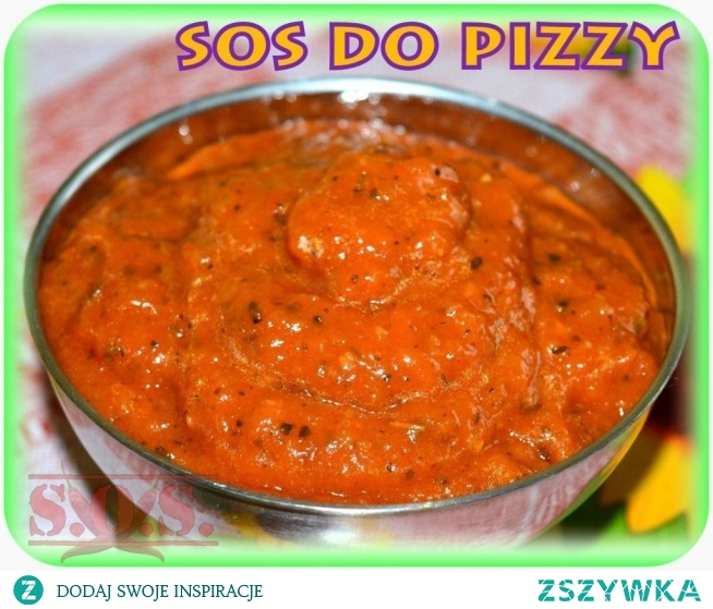 Uwielbiam połączenie pomidorów i cebuli, dlatego ten sos często robię do pizzy;) Jeśli zwykle spód do pizzy smarujecie keczupem lub koncentratem pomidorowym, dla odmiany polecam przygotowanie takiego domowego sosu. Wyraźnie poprawi smak pizzy, a jego przygotowanie wcale nie jest trudne;)