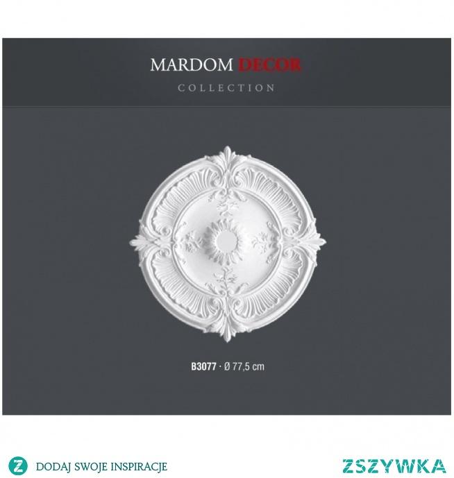 Rozeta Mardom Decor B3077 jest to jeden z największych modeli wynoszący FI 77,5cm. To kwintesencja dobrego smaku, która podniesie zdecydowanie wartość projektowanej aranżacji. Perfekcyjnie nadaje się on do ożywienia przestrzeni sufitu czy ściany oraz zaakcentowania całej aranżacji wnętrza. Wykonana z najlepszych tworzyw ProFoam przez co jest niezwykle lekka i wytrzymała gotowa do malowania.
