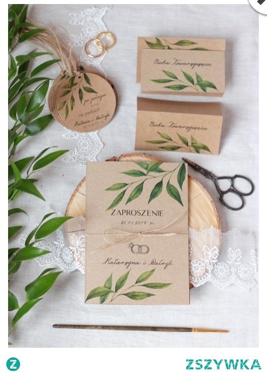 zaproszenia rustykalne na papierze eko