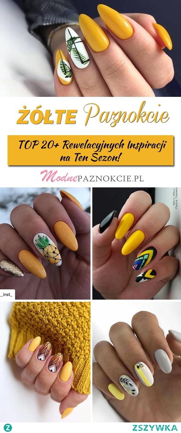 Żółte Paznokcie na Lato – TOP 20+ Rewelacyjnych Inspiracji na Ten Sezon!
