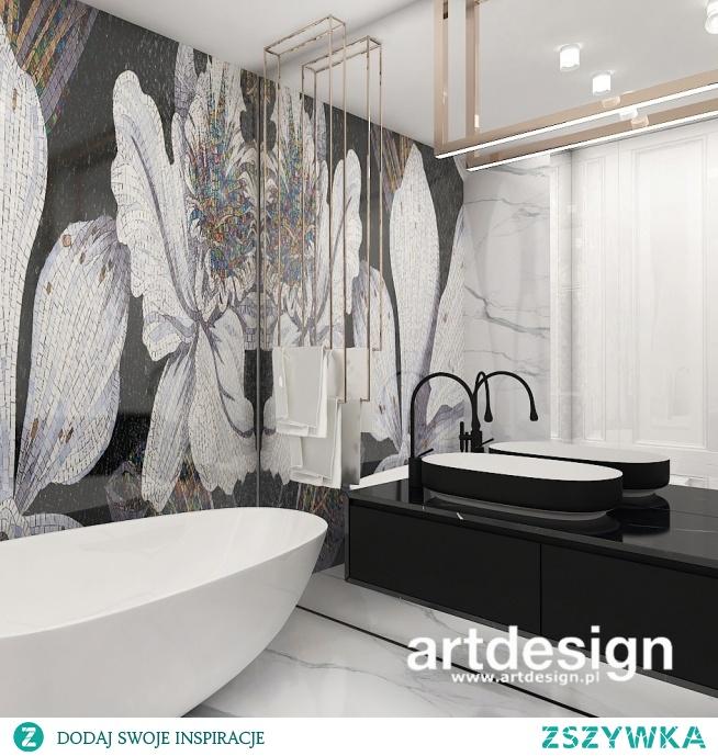Projekt łazienki z piękną mozaiką - czy to nie wnętrze marzeń? | FORBIDDEN FRUIT IS THE SWEETEST | Wnętrza apartamentu