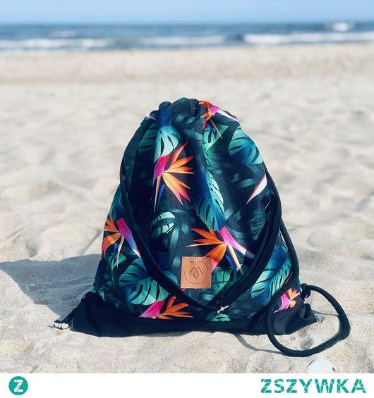 Plecak/torba worek Mili Funny Bag - monstera