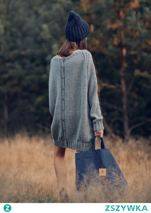 Oversized Buttoned Long Sweater