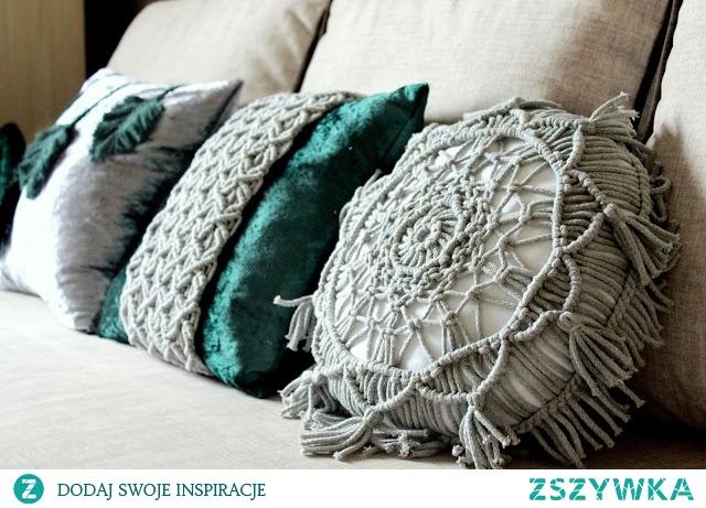 Poduszki dekoracyjne butelkowa zieleń