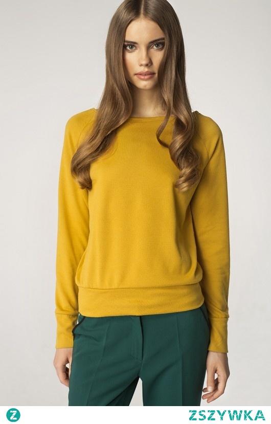 Sweter sw01 - żółty