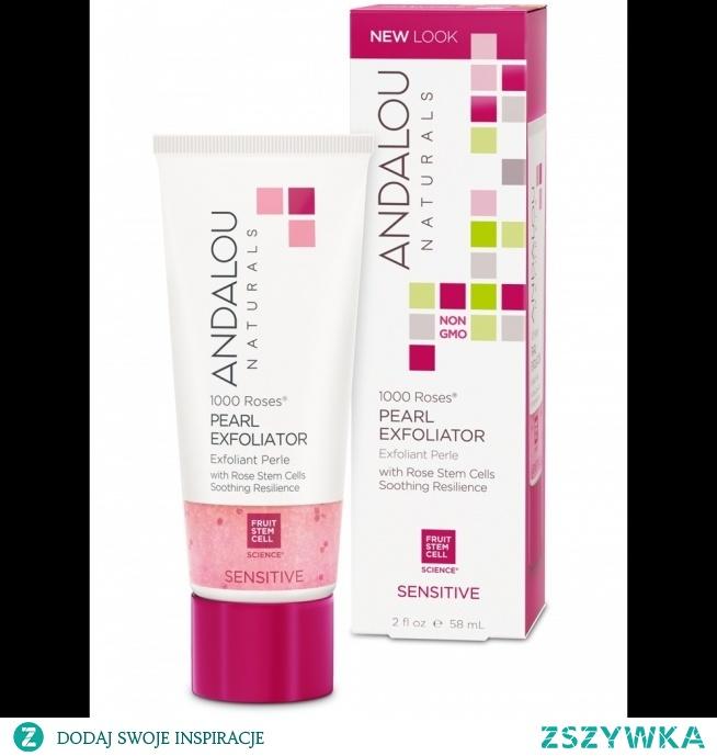 Andalou Naturals, Pearl Exfoliator, Sensitive, 1000 Roses, 2 fl oz (58 ml)