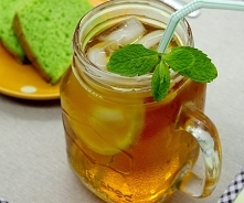 Ice tea brzoskwiniowo-malinowa bez dodatku cukru. Przepis po kliknięciu w zdj...