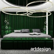 Sypialnia z dużym łóżkiem o...