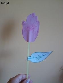 Laurka tulipan ze słomki i ...