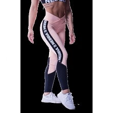 leggings Nebbia N601 salmon - a trendy color connected with a high-weist spor...