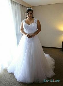 Plus rozmiar białej sukni ś...