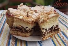 słodkie ciasto ze słonym ak...