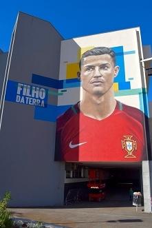 Mural Ronaldo na Maderze