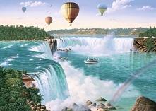 Krajobraz. Wodospad Niagara...