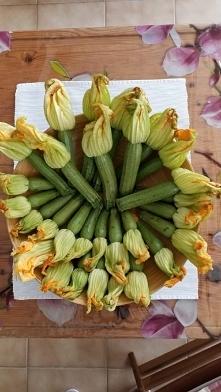 Jadalne kwiaty cukinii  na ...