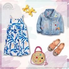 letni outfit przedszkolaka - dziewczynka