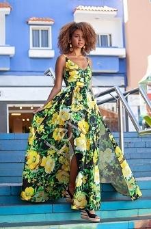 Przepiękna kwiatowa sukienk...
