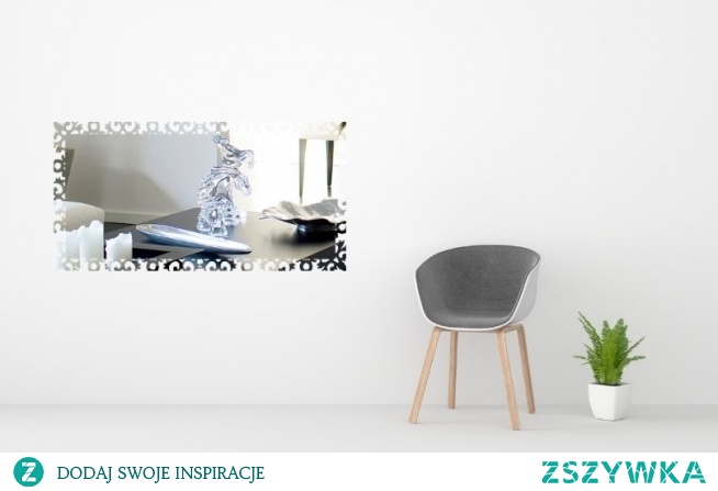 Lekkie lustro dekoracyjne. Znajdziesz je na 4fd.pl