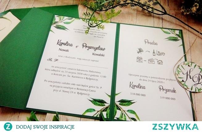 zaproszenia w folderze w pasjonatapracowniazaproszen.com.pl