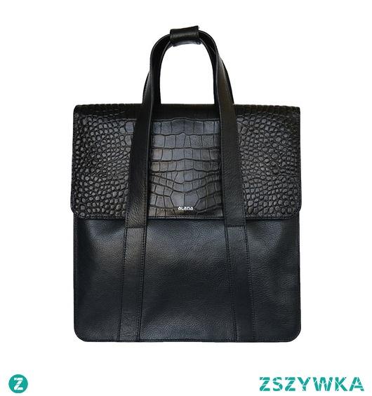 MEGAN - skórzany plecak 2 w 1, torba w rękę