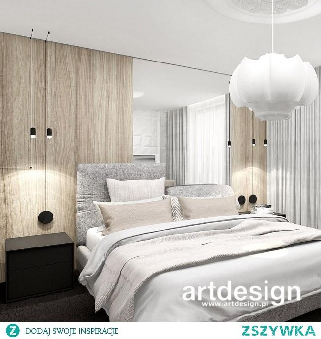 Jasna, wyważona aranżacja sypialni - to wnętrze emanuje spokojem, czyż nie? :)   PERFECT MATCH   Wnętrza domu