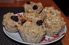 Muffinki z bananem i mąką migdałową.