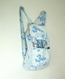 Plecak niebieski kwiaty