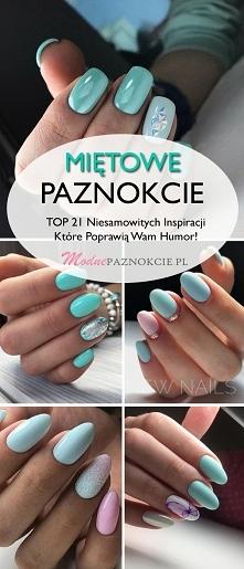 Miętowe Paznokcie – TOP 21 Niesamowitych Inspiracji Które Poprawią Wam Humor!