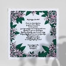 Kwiatowa - chusteczka z tekstem