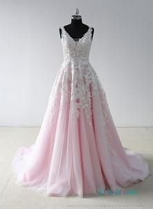 różowy i biały tiul # ballg...