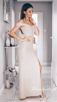 Długa suknia na wesele z ko...