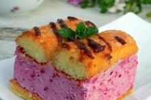 puchate ciasto malinowe