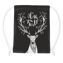 plecak  worek z jeleniem