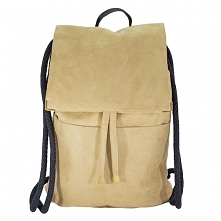 Plecak beżowy zamsz