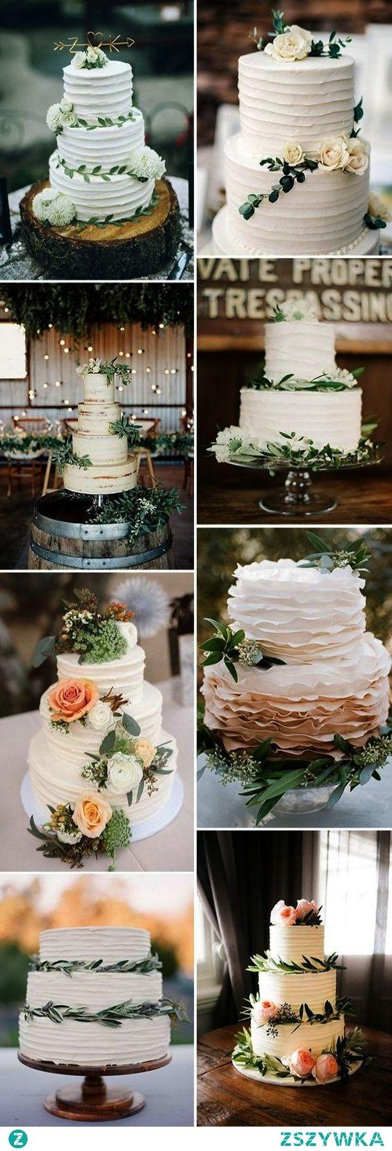 Inspiracje na tort weselny <3