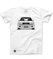 Biała koszulka BMW M3 E30