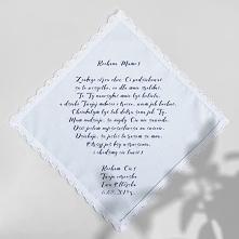bawełniana chusteczka z podziękowaniem dla rodziców lub świadków