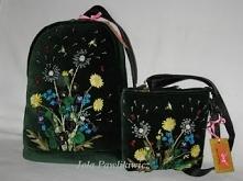 Plecak + torebka z aksamitu. Więcej na torebeczki.blogspot.com