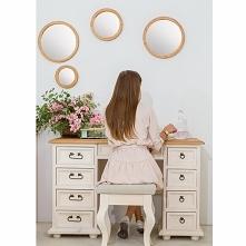 stylowe biurko bielone z li...