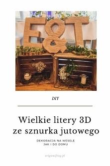 DIY Wielkie litery 3D ze sz...