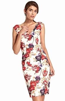 Nife Dopasowana sukienka z dekoltem S107KW