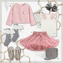 Weselny outfit dla dziewczynki. Na blogu one-set.pl można zainspirować się oś...