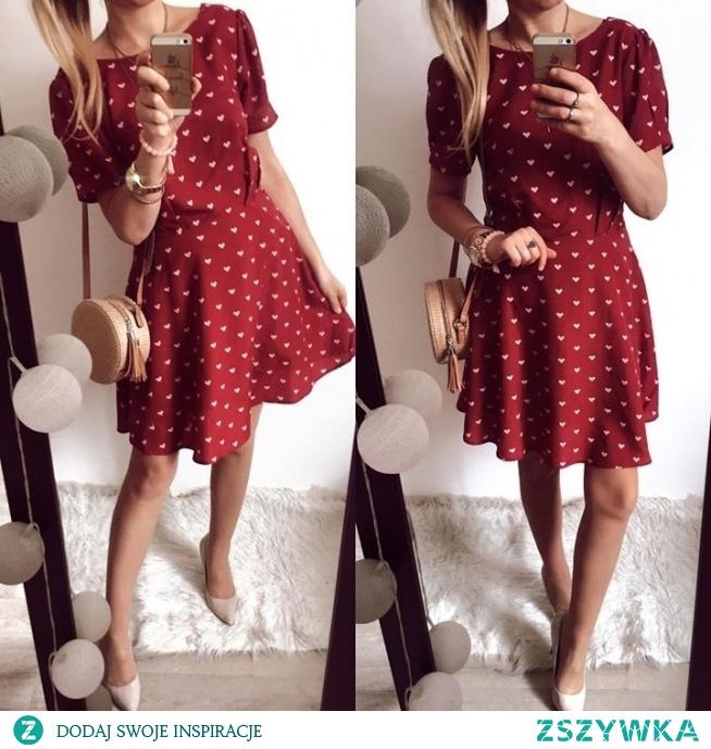Sukienka w serduszka dostepna na FB Butik Gretastyl