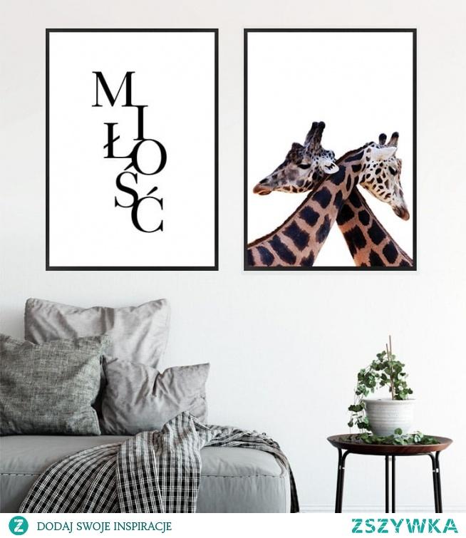 Komplet plakatow MIŁOŚĆ   Zyrafy