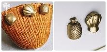 zobaczcie jakie ostatnio zrobiłam wakacyjne, złote broszki i magnesy na lodówkę :)